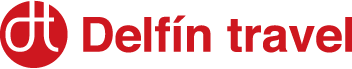 Delfín travel logo