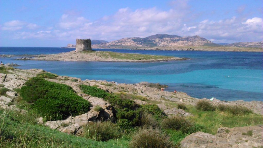 Pláž La Pelosa - Stintino - severní Sardinie
