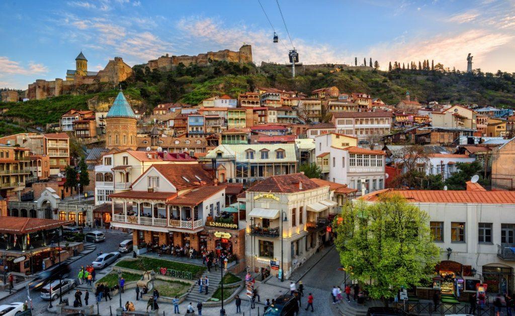 Hlavní náměstí v Tbilisi