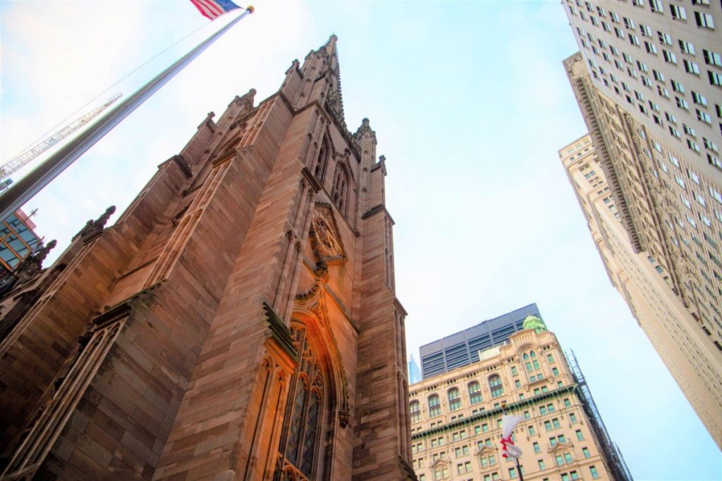 Kostel Trinity Church v New Yorku.