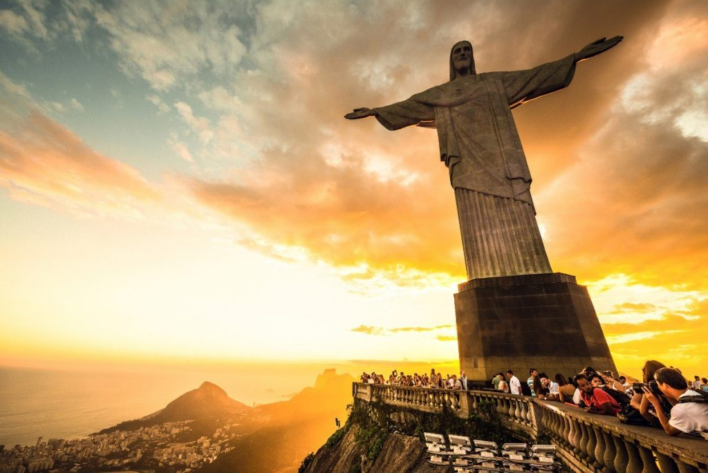 Jeden ze Sedmi nových divů světa a památka UNESCO - socha Krista Spasitele v Rio de Janeiru.