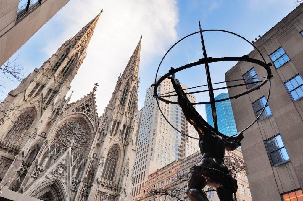 Jedna z největších katedrál světa - neworská St. Patrick's Cathedral.