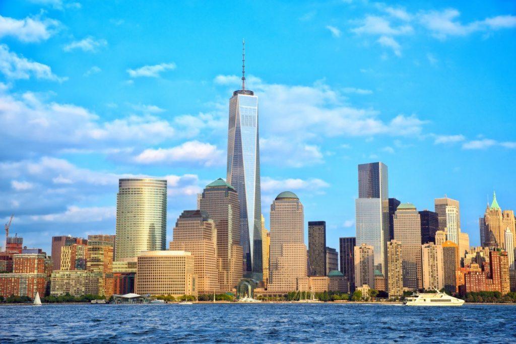 Budova One World Trade Center na newyorském Manhattanu.