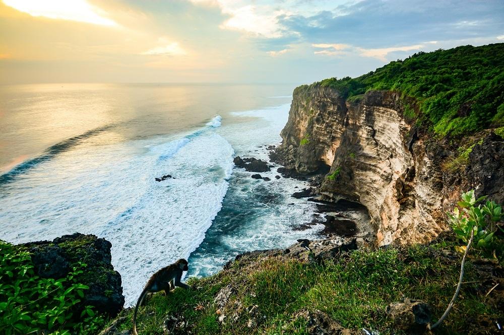shutterstock_311917175 Scenic landscape of high cliff at Uluwatu Temple, Bali