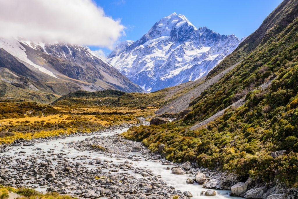 Mount Cook se nachází ve stejnojmenném národním parku.
