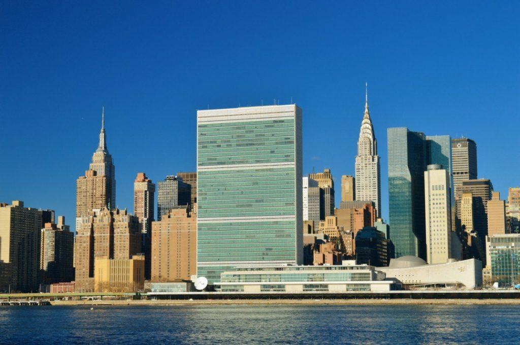 Pohled na Manhattan z Roosevelt Island.