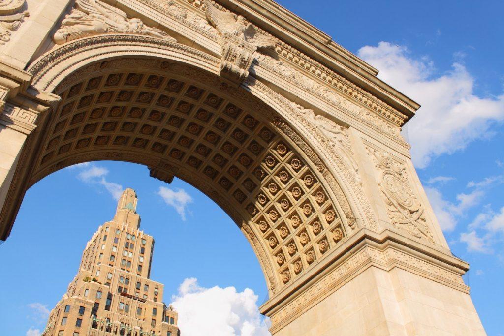 Náměstí Washington Square v New Yorku.