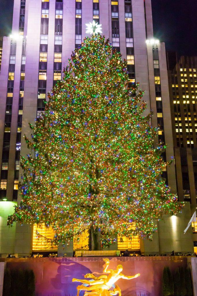 Newyorský vánoční stromek v celé své kráse.