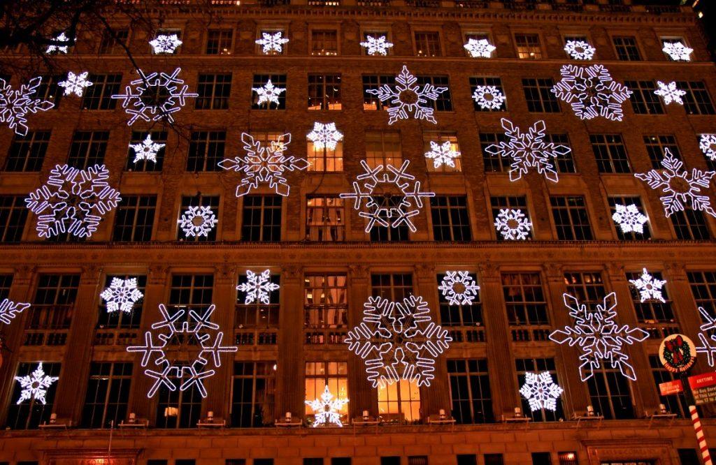 Vánoční výzdoba na Rockefellerově centru v New Yorku.